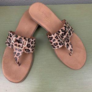 Aerosoles Savvy Leopard Thong Sandal Size 8M